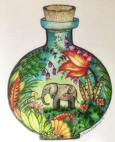 #magicaljungle#johannabasford #prismacolorpencils #coloringforadults…