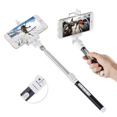 Amazon.com: InnoGear® Selfie Stick with Remote Shutter and Telescopic Tripod Self Portrait Bluetooth Monopod Hand Grip for Samsung Galaxy S3 S4, Note 2 3, iPhone 6 5s 5c 5 4s , HTC one M7 M8 Mini - Detachable and Assembled, Support Zoom In or Zoom Out Function(Black): Cell Phones & Accessories