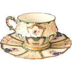Nippon Tea Cup , Rare NPSK Mark, c. 1880