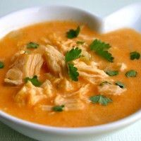 My Retro Kitchen: Buffalo Chicken Soup Chowder Recipes, Soup Recipes, Chicken Recipes, Free Recipes, Low Carb Buffalo Chicken Soup Recipe, Pollo Buffalo, Spicy Soup, Healthy Slow Cooker, Albondigas