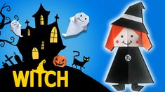 Halloween Paper Craft Ideas Halloween Paper Craft Ideas Spooky Halloween Time Learn How To Make Halloween Paper Witches For Halloween Paper Crafts, Spooky Halloween, Halloween Ideas, Witches, Easy Crafts, Craft Ideas, How To Make, Kids, Decorations