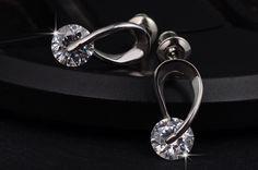 Hugging Swarovski Element Diamond Stud Earrings