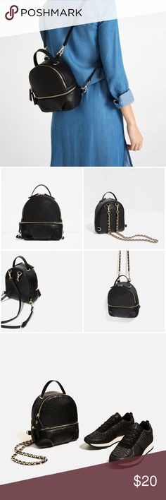‼️ISO‼️ Zara Convertible Backpack I'm looking for this backpack. Please let me know if you have one or tag me if you see one. Thank you! Zara Bags Backpacks