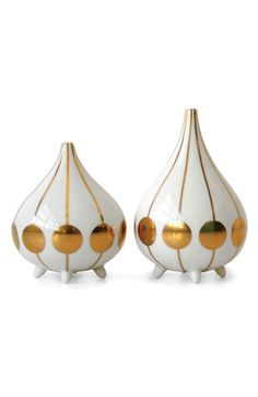 Jonathan Adler Futura Salt & Pepper Shakers available at #Nordstrom. These remind me of It's a Small World ride at Disneyland!