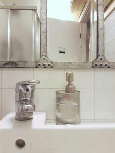 Oil can as soap dispenser #industrialdecor