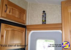 A can of hornet & wasp spray Velcroed above the front door of your RV keeps it handy for the one time you may need it. Wasp Spray, Self Defense Women, Gypsy Wagon, Hot Shots, Hornet, Rv, Pepper, Tips, Motorhome