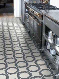 Parquet Vinyl Floor Tile - Charcoal from the Neisha Crosland Portfolio. #NeishaCrosland