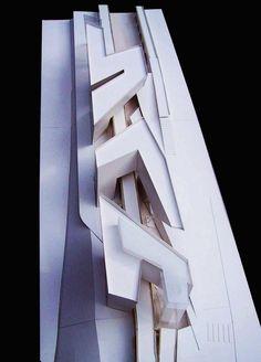 Zaha Hadid; Spittelau Viaducts Housing Project, Vienna, 2005