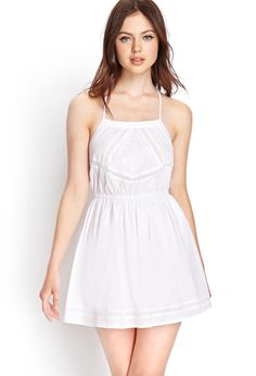 Embroidered Cotton Fit & Flare Dress   FOREVER21 #Spring #MustHave - http://AmericasMall.com/categories/juniors-teens.html