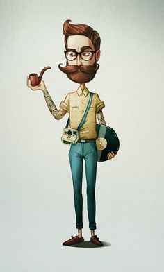 30 Character designs based on personality types by Maria Tiurina, via Behance