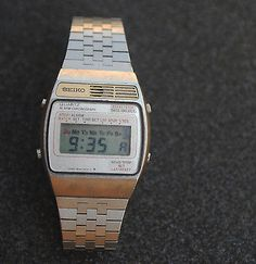 Rare Vintage SEIKO  A159-4000-G Alarm Chronograph LCD Watch. Japan RELEASED 1977