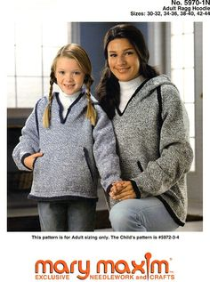 Knit this sweater using Mary Maxim Ragg Worsted Weight yarn.