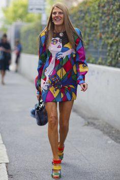 Oh, Anna Dello Russo. Do you ever slow down? #MFW #streetstyle