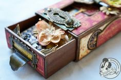 """Butterfly Kisses: French Country """"Mon Amie"""" Altered Matchbook Box & Mini Album + Tutorial!"""