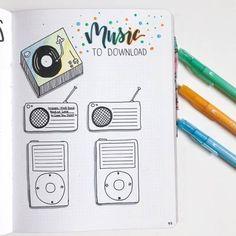 25 technology and social media bullet journal spread layout ideas Bullet Journal 2019, Bullet Journal Notes, Bullet Journal Junkies, Bullet Journal Spread, Bullet Journal Layout, Bullet Journal Inspiration, Music Journal, Book Journal, Journal Ideas