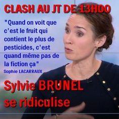 CLASH AU JT DE 13H00 SUR LES POMMES- Marie-Sophie Lacarraux ne s'en laisse pas compter !