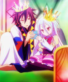 sora and shiro Otaku Anime, Manga Anime, Anime Art, Wallpaper Animes, Animes Wallpapers, I Love Anime, All Anime, Anime Girls, Shiro