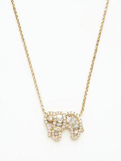 dorie love gold & diamond elephant pendant necklace
