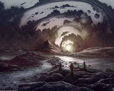 Amazing Fantasy Landscape Drawing Pics and Surreal Drawing Amazing Art And Illustration, Fantasy World, Fantasy Art, Mystique, Landscape Drawings, Landscapes, Album Design, Fantasy Landscape, Gothic Landscape