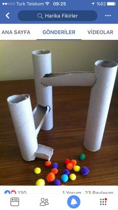 Kugelbahn aus Toilettenpapierrollen The Effective Pictures We Offer You About montessori toddler roo Toddler Learning Activities, Infant Activities, Preschool Activities, Teaching Kids, Kids Learning, Children Activities, Toddler Fun, Toddler Crafts, Crafts For Kids
