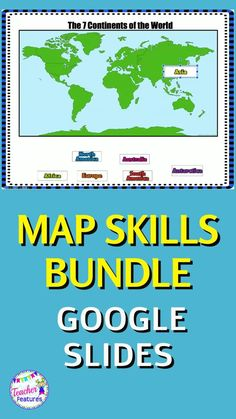 Teaching map skills, world continents, U.S. Regions & landforms is easy with no prep, Google Classroom digital geography activities. Make Distance Learning fun! Movable pieces & interactive text boxes. Includes 81 interactive Google Slides with movable pieces and interactive text boxes. Boom card bonus included, too! #mapskillsforkids #GoogleClassroom #tpt #GeographyActivities #TeacherFeatures #DistanceLearningTpT #digitalclassroom #Landforms #Continents #USRegions #technologyintheclassroom