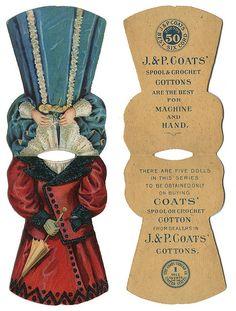 :marvel at:: Paper dolls - Fashion educators & Advertising tool Vintage Labels, Vintage Ephemera, Vintage Buttons, Vintage Prints, Paper Toys, Paper Crafts, Etiquette Vintage, Advertising Tools, Vintage Sewing Notions
