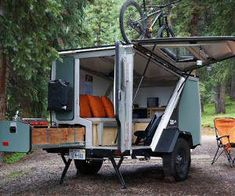 the tigermoth camper trailer is made for off-the-grid living - Wohnwagen - Home Made Camper Trailer, Teardrop Camper Trailer, Off Road Camper Trailer, Camper Caravan, Airstream Trailers, Rv Campers, Landrover Camper, Small Camper Trailers, Airstream Camping