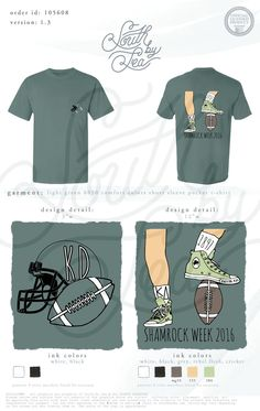 Kappa Delta | KD | Shamrock Week | Football Theme T-Shirt Design | South by Sea | Greek Tee Shirts | Greek Tank Tops | Custom Apparel Design | Custom Greek Apparel | Sorority Tee Shirts | Sorority Tanks | Sorority Shirt Designs