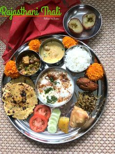 Rajasthani Thali is a traditional delicious meal where you have a array of traditional Rajasthani dishes served in a platter.