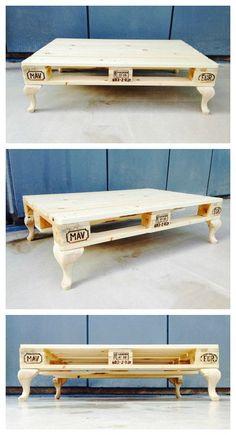 Tuto simple pour fabriquer une table basse avec une palette http://www.homelisty.com/table-basse-palette/