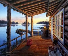"""""""Opening Day"""" by Darrell Bush: Yellowstone National Park, National Parks, Belle Image Nature, Bush, Bachelor Of Fine Arts, Cabins And Cottages, Arte Popular, Opening Day, Cabins In The Woods"""