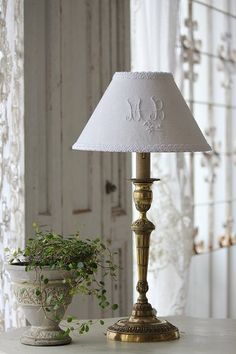 Personalised lampshade, very pretty.