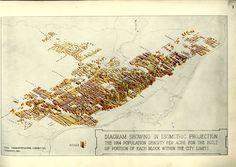 Isometric Projection of Toronto's Population Density (c1914)   Civic Transportation Committee of Toronto