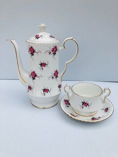 Charcoal Gray Teapot with White Splash 5 H X 7 12 W