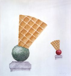 Claes Oldenburg - Boules with Eventails - Sculpture for a Stair