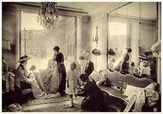 """mimbeau: """" The fitting salon at Madeleine Chériut, place Vendôme Paris 1910 G. Agié © G. Agié/Droits réservésPrise de vue © Gérard Leyris """""""