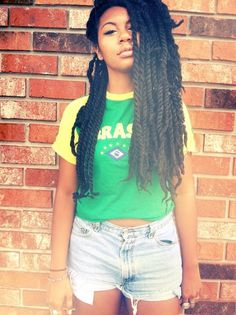 Find images and videos about beautiful, braids and Afro on We Heart It - the app to get lost in what you love. Marley Twist Hairstyles, Afro Hairstyles, Protective Hairstyles, Protective Styles, Natural Hair Care, Natural Hair Styles, Twist Cornrows, Marley Twists, Natural Hair Inspiration