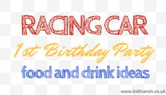 Car Themed First Birthday Food and Drink Ideas - my tortoise mind First Birthday Party Favor, Race Car Birthday, 3rd Birthday, Transportation Birthday, Birthday Cakes, Birthday Ideas, Car Themed Parties, Cars Birthday Parties, Birthday Party Decorations