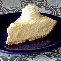 Pineapple Cheese Pie  --  baked pie crust, crushed pineapple, pineapple Jell-O, Cool Whip, and a container of whipped cream cheese.  Filling makes enough for 2 or 3 pies.