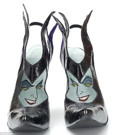 Quikry: There is a pair of Maleficent shoes which are shiny black pointy-toed complete with her stylised headpiece and cape