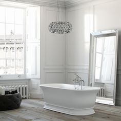 Imperial Marlow Freestanding Double Ended Bath, from ukBathrooms Jacuzzi Bathtub, Clawfoot Bathtub, Bathtubs, Classic Bathroom, White Bathroom, Master Bathroom, Bathroom Inspo, Bathroom Styling, Bathroom Ideas