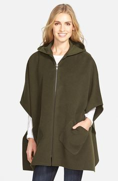 Nordstrom Solid Hooded Poncho available at #Nordstrom