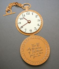 Invitations to a very important date.  wouldn't this type of invite be great for an Alice in Wonderland party?