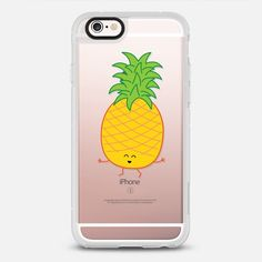 I Pine For You (Pineapple) - New Standard iPhone 6 Case in Clear and Clear by @queeniescards | @casetify