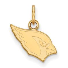Gold Plated Sterling Silver Arizona Cardinals XS Pendant