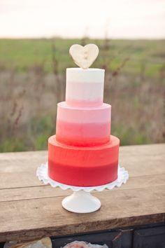 Simple gradient wedding cake