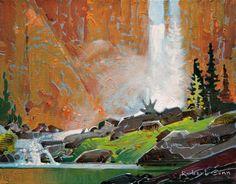 Robert Genn, artist, original landscape paintings at White Rock Gallery Chatterbox Falls III Canadian Painters, Canadian Artists, Landscape Art, Landscape Paintings, Art Studies, Beautiful Paintings, Art Oil, Art Images, Abstract Art