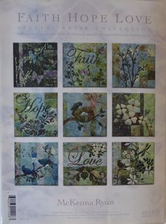 McKenna Ryan~ Faith Hope and Love~ Pine Needles~ 9 Quilt Sewing Pattern Set,Fast Shipping PT348