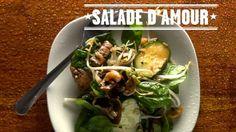 Salad of love - Curious Bégin - rice Quebec, Mushroom Rice, Base Foods, Tofu, Soup And Salad, Salad Recipes, Potato Salad, Sweet Tooth, Chicken Recipes