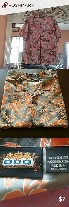 Shirt 100 percent polyester was warned for a Halloween party they dress like a hippie but never worn Shirts Casual Button Down Shirts